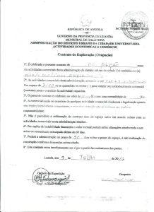 Contrato de Ocupação