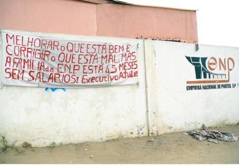 TRABALHADORES DA EMPRESA NACIONAL DE PONTES SUSPENSOS E SEM SALÁRIO
