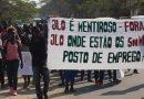 MANIFESTAÇÃO CONTRA O DESEMPREGO EM QUASE METADE DO PAÍS
