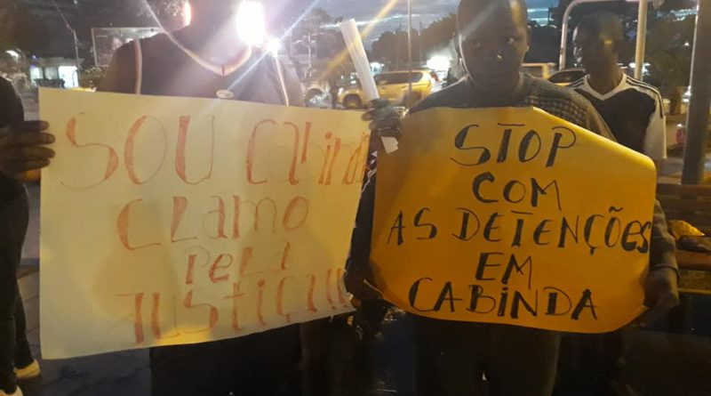 INTIMIDAÇÃO POLICIAL À VIGÍLIA PELA LIBERTAÇÃO DE PRESOS POLÍTICOS EM CABINDA