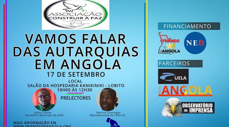 Importância das Autarquias Locais vai a debate nesta terça-feira na cidade do Lobito
