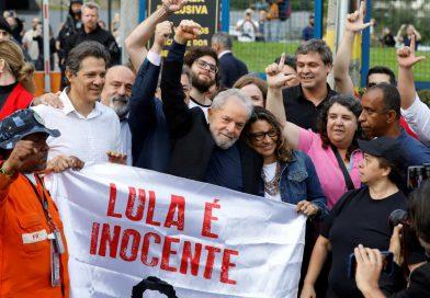 Antigo Presidente brasileiro Lula da Silva saiu da prisão