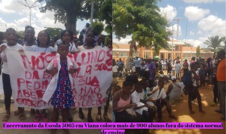 Estudantes protestam em Viana para exigir abertura de escola encerrada por ordens superiores