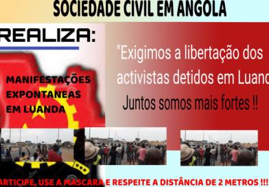Jovens prometem chuva de manifestações no Palácio Presidencial para exigir soltura de activistas detidos em Luanda